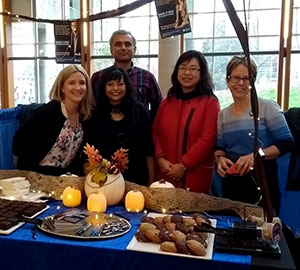 The Fair Employment Booth, CFC Chair Sarika Bose and volunteers, The NEST at UBC, October 2017