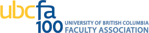 UBC Faculty Association 100 Anniversary wordmark